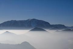 Break Through (CoolMcFlash) Tags: mountain peak fog foggy cloud sky blue nature landscape mountains austria loweraustria hohewand negativespace copyspace weather fujifilm xt2 mist gebirge berg spitze nebel wolke himmel blau natur landschaft österreich niederösterreich fotografie photography xf18135mmf3556r lm ois wr