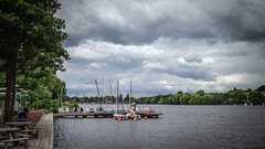 Alster. HH (max.stolbinsky) Tags: clouds sky wave water lake alster hamburg hh