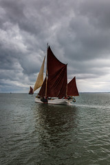 sailing into a silver grey sky (stocks photography.) Tags: michaelmarsh whitstable photographer thamesbarge reminder coast barge sail sailing maritime boat