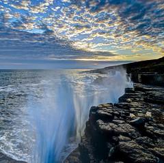 My blue wave (pauldunn52) Tags: water wave spray ogmore by sea glamorgan heritage coast wales crash sky sunset bioluminescence