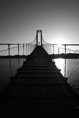 Sur le pont (alestaleiro) Tags: ponte puente bridge silohuette silueta man pênsil pont mono monochrome blackwhite bianconero monocromo barravelha santacatarina alestaleiro alejandroolivera alejandrooliveraphotography pb bw bn