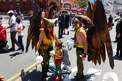 A Family Affair (Art By Pem Photography: Tao Of The Wandering Eye) Tags: comiccon comicconinternationalsandiego costumes costume comics fan fanboy fantasy popculture movies television canon canoneosrebelsl1 canonefs24mmf28stm sandiegocomiccon hawkman hawkgirl dc dccomics