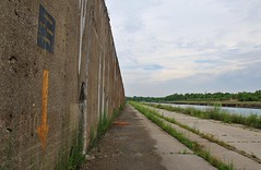 Slipping Through (BravoDelta1999) Tags: ussteel southworks southchicago chicago illinois ore wall