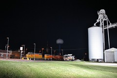 Milked this shot for all it is worth (gsebenste) Tags: unionpacific up sd40n trains night harvard illinois