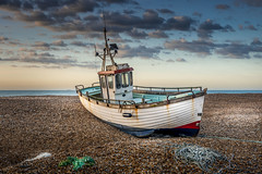 Dungeness-FIshing-Boat (deanallanphotography) Tags: adventure anawesomeshot artisticexpression beauty beach colors clouds coast coastline expression england flickrsbest greatbritishlandscape impressedbeauty landscape light ngc natgeo nature nikon outdoor outdoors photography peaceandquiet sea sunrise travel texture uk water
