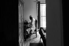 My grandpa's eid (A. adnan) Tags: grandfather granddad prayers islam eid festival eidulfitr chittagong bangladesh home bw monochrome sonyrx100iv sonyrx100mark4
