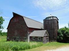 Red Barn & Silo (jimmywayne) Tags: barn silo red decay rural massachusetts sheffield berkshirecounty