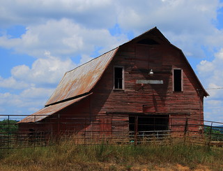 Old Barn - At Kingston in Madison County, Arkansas