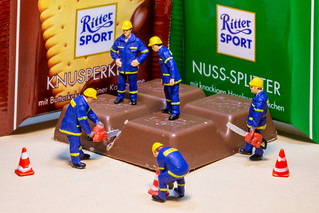Amtshilfe THW bei Ritter Sport Mahlzeit - Mutual assistance THW at Ritter Sport meal