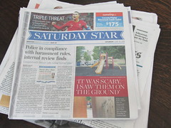 Saturday Star (Toronto) (Dan_DC) Tags: newspapers print saturdaystar torontostar torontoontariocanada frontpage pageone