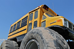 Monster Bus (Rock Water) Tags: schoolbus monstertruck large tires
