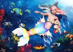 Mermaid's Tale (carol.newall) Tags: sorumin astralia lootbox insol catwa mermaid tale ocean fish secondlife bento gacha