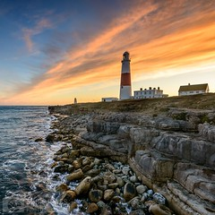 Old Bill (Chris Jones www.chrisjonesphotographer.uk) Tags: weymouth edge rocks colour sunset coastline coast jurassic ocean seascape sea photographer jones chris uk england west south dorset lighthouse bill portland