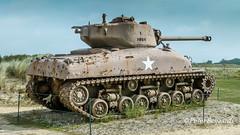 Sherman Tank near Utah Beach, Normandy France (Peter Beljaards) Tags: sherman tank armoured ww2 normandy normandie france frankrijk utahbeach dday worldwarii allies geallieerden usa american