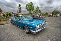 1962 chevy impala (pixel fixel) Tags: 1962 chevrolet football fundraiser impala reflectionscc solitoscc turquoiseandwhite tweakedpixels whittier whittierhighschool ©2018kathygonzalez
