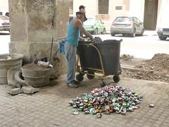 recycling (Jackal1) Tags: people cans recycling socialdocumentary street decay city havana cuba
