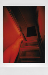 The Attic (H o l l y.) Tags: logomachie lomoinstant fuji instax instant film red flash attic arm hand pointing stairs creepy weird retro indie vintage