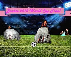 "Barbie Dolls  "" The stranges Soccergame ever"" (marieschubert1) Tags: soccer game ball players goal world cup barbie fashion dolls gowns women men stadium team coach score trophy sport champion fans mattel"