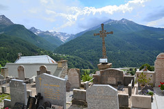 cemetery & mountain