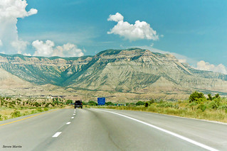 Roan Cliffs from I-70, Parachute, Colorado