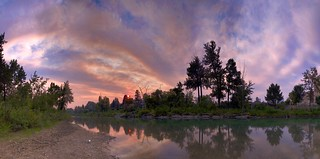Elbow River Smoke Panorama