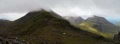 The traverse of the Rum Cuillin: descending Hallival towards Askival (Mumbles Head) Tags: scotland mountains highlands rum rhum isleofrum cuillin rumcuillin corbetts grahams landscape