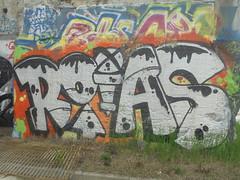 1528 (en-ri) Tags: roias nero arancione bianco arrow torino wall muro graffiti writing parco dora