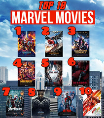 Top 10 Marvel Movies (Luigi Fan) Tags: top marvel comics 10 movies cinematic universe deadpool