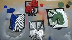 Attack On Titan Badges (flgreen2) Tags: anime attackontitan badges scout regiment