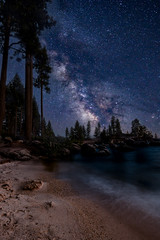 Sand Harbor Milky Way (Aaron_Smith_Wolfe_Photography) Tags: sandharbor laketahoe sierra nevada beach milkyway galaxy stars night composite