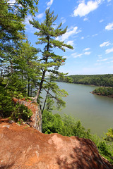 Trail with a view (cheryl.rose83) Tags: cliff path trees river maine landscape