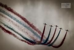 The Red Arrows At Folkestone. (ziggystardust111) Tags: redarrows aeroplane planes creativephotography colourful grit noise avaition flying folkestone