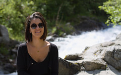 Smile in front of the river (N.Hell) Tags: smile portrait nature canon 50mm girl wife woman water river rock natural light day sun