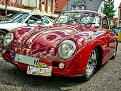Porsche 356 (baer99) Tags: red rot porsche dmcfz30 automobil auto car oldtimer old 356 lumix germany hdr