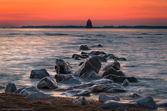 20180714 Md Sandy Point State Park031 (Dan_Girard_Photography) Tags: 2018 dangirardphotography motion park rocks sandypointbeach sun sunrise water