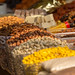 Different kinds of nuts at Danilovsky Market in Moscow