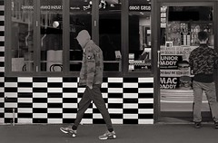 Life's Chequered Path (cupitt1) Tags: checks chequered hoodie youth street newtown shop milkbar
