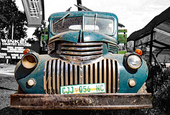 Chevi face (werner boehm *) Tags: wernerboehm southafrica route62 oldtimer