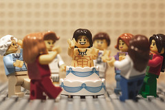 Now it's a party!!! (ver.2) (3rd-Rate Photography) Tags: lego popoutcake stripper malestripper minifig minifigure party toy toyphotography canon 100mm macro jacksonville florida 3rdratephotography earlware 365 cake bacheloretteparty
