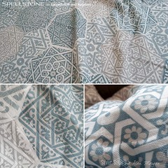 Silver Souk by Alex Morgan (Spellstone) Tags: marrakech marrakesh morocco africa spice star silver saffron sandlewood lucky tile heptagon souk spellstone spoonflower roostery art craft design surface pattern society6 alexmorgan pillow cushion phonecase textile fabric wallpaper totebag tote clock wallclock mug rug pouch laptopskin clothing apparel sewing curtains