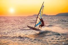 Sunset in Loutraki (yaroslavagromova) Tags: windsurfing wind sea sunset wave greece sport beach summer trip