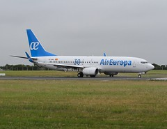 Air Europa                                      Boeing 737                                           EC-MKL (Flame1958) Tags: 4098 aireuropa aireuropab737 boeing737 boeing b737 737 ecmkl dub eidw dublinairport 190618 0618 2018 aireuropa30years aireuropa30anos logojet