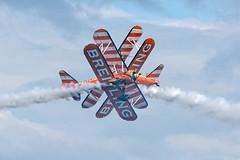 Breitling wing walkers ...... (Tony Baldwinson) Tags: breitlingwingwalkers wing walkers breitling wingwalkers uk airshows aircraft aviation boeingstearman sunderland nikond7100 nikonafs80400