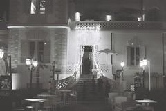 The Embassy Club (goodfella2459) Tags: nikon f4 af nikkor 50mm f14d lens kodak tmax 400 35mm blackandwhite film analog embassy club rimini italy night building lights bwfp