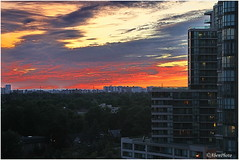 180620 Evening Sky over North York (Aben on the Move) Tags: toronto canada willowdale northyork ontario sky window sunset clouds sun evening night