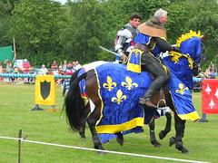 DSCF3851 (SierPinskiA) Tags: ruffordabbeycountrypark rufford knightsofnottingham fujixs1 jousting medieval horse knights goldeneagle falcon