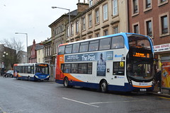 Stagecoach Western 37251 SL64HWG & 10927 SN67XAV (Will Swain) Tags: irvine 10th march 2018 scotland scottish north town centre west bus buses transport travel uk britain vehicle vehicles county country stagecoach western 37251 sl64hwg 10927 sn67xav
