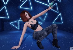 Taking Laser Tag Too Seriously (Cryssie Carver) Tags: secondlife second life sl avatar blush collabor88 thearcade the arcade nerido tetra maxigossamer maxi gossamer izzies mithral league suicidalunborn suicidal unborn euphoric catwa maitreya belleposes belle poses foxcity fox city