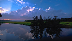 Stormy Sunset Over The Great Marsh (stevebfotos) Tags: canarycreek clouds greatmarsh lewes storm sunset topaz delaware unitedstates us