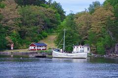 154 Stockholm Juin 2018 (paspog) Tags: stockholm suède sweden schwsden mer see sea bateau boat schiff maison house haus juni juin june 2018